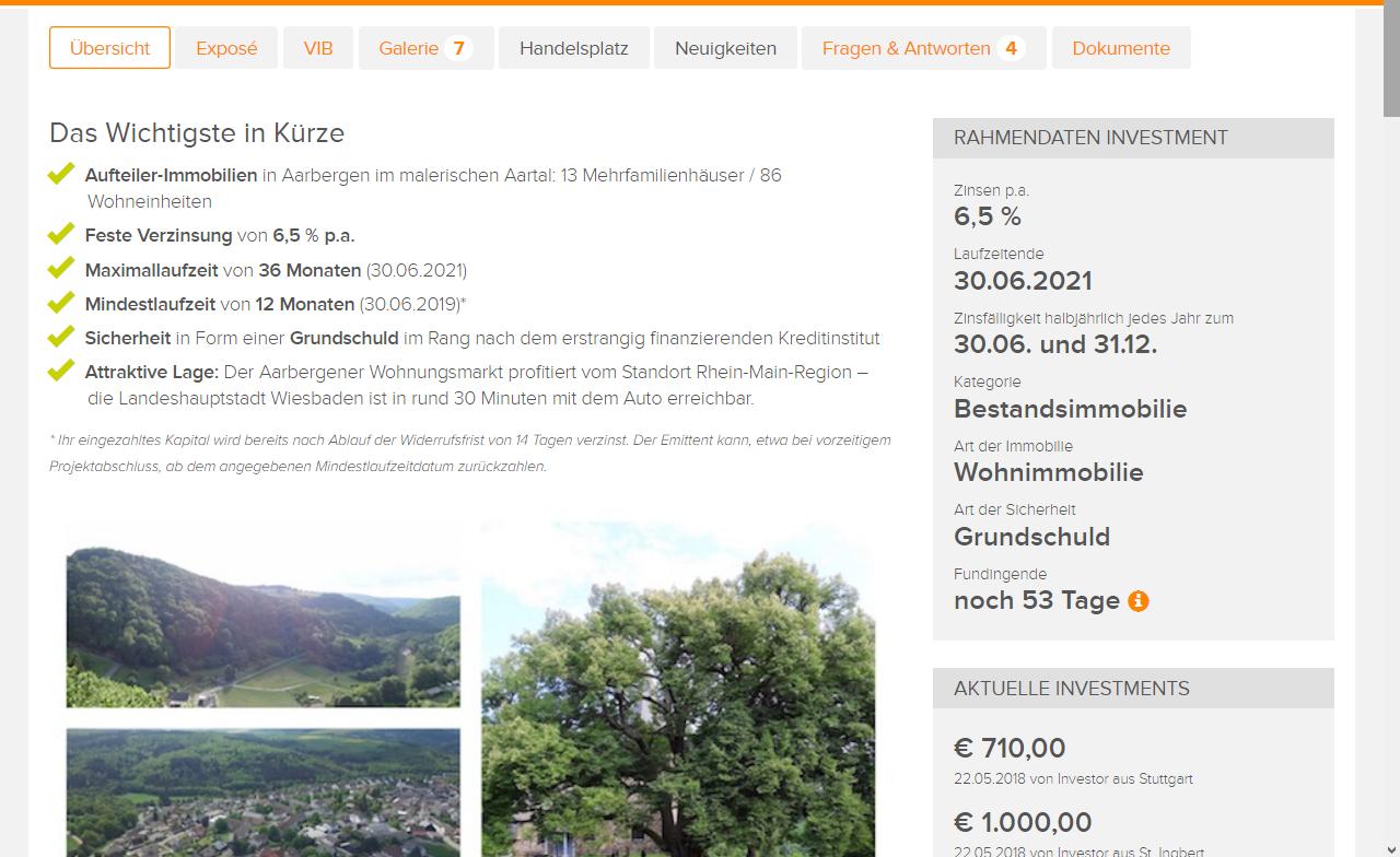 Bergfürst Aktuelle Emissionen Aartal